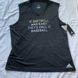NWT Adidas Black Softball Tank Top Size Large